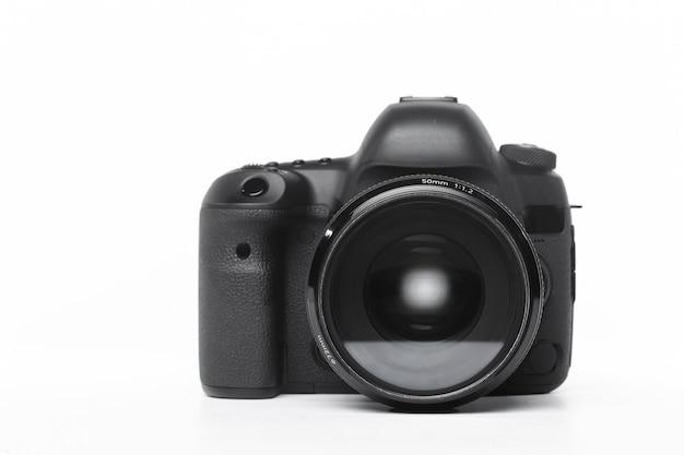Câmera isolada no fundo branco Foto Premium