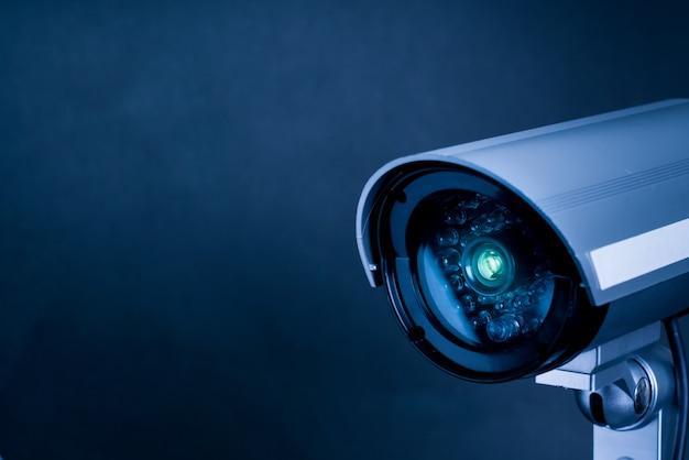 Câmera on-line de segurança cctv para ambientes internos Foto Premium