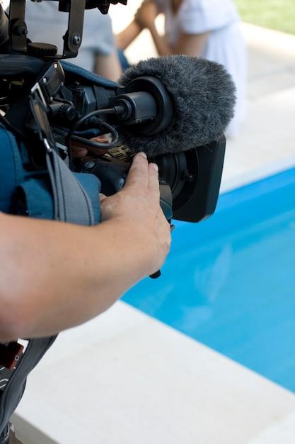 Cameraman Foto Premium