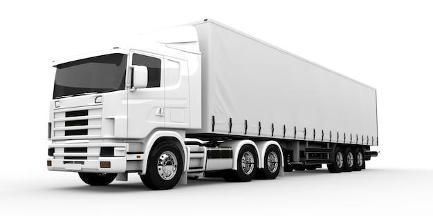 Caminhão branco Foto Premium