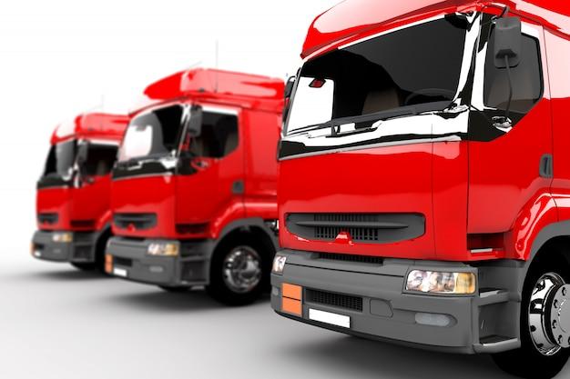 Caminhões vermelhos Foto Premium