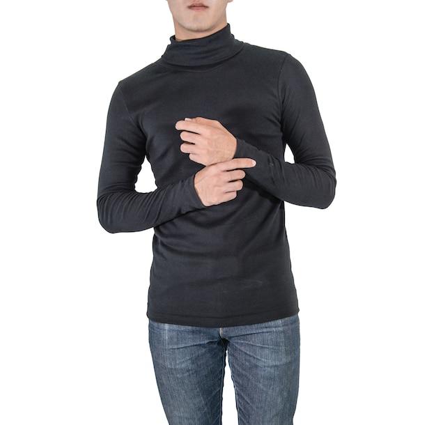 Camisa de design e conceito de pessoas mock-se modelo de design de impressão Foto Premium