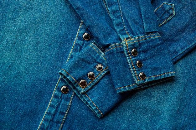 Camisa jeans azul Foto Premium
