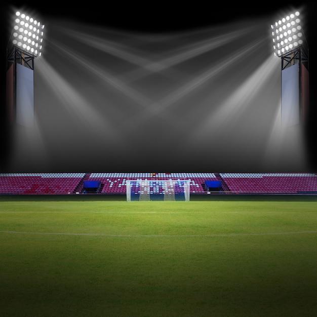 Campo de futebol Foto Premium