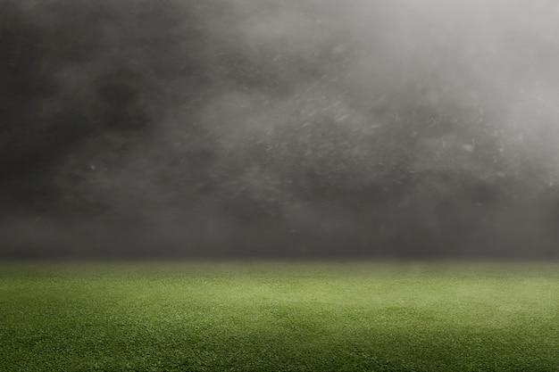 Campo futebol, com, grama verde Foto Premium
