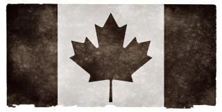 Canadá grunge bandeira preta e branca Foto gratuita