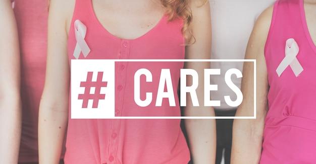 Câncer de mama cura de consciência da saúde Foto gratuita