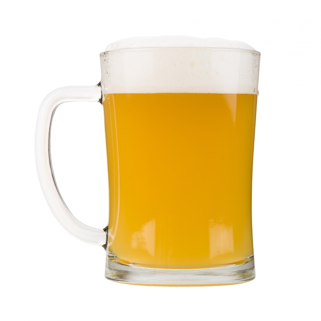 Caneca de cerveja branca Foto Premium