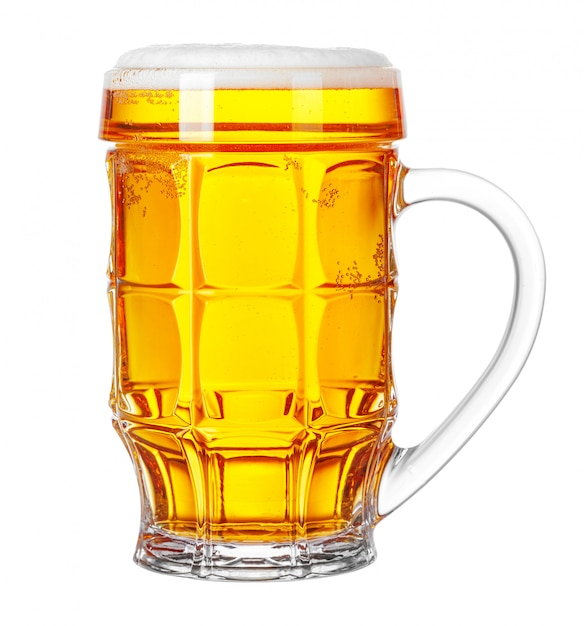 Caneca de cerveja isolada no branco Foto Premium