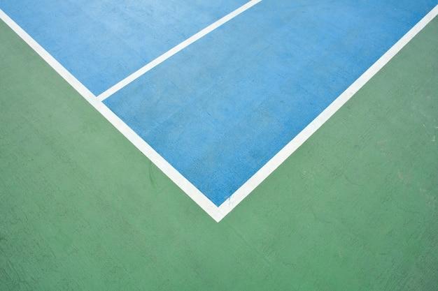 Canto da quadra de basquete azul e verde Foto Premium
