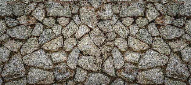 Capa de banner ou página da web da parede de pedra, padrão de textura de tijolos antigos para decoração Foto Premium