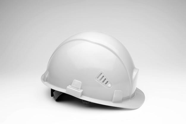 Capacete de construção branca. o conceito de arquitetura, construção, engenharia, design. copie o espaço. Foto Premium
