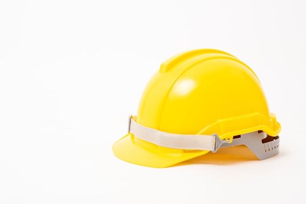Capacete de segurança amarelo Foto Premium