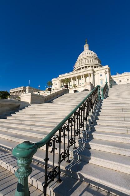 Capitol, predios, cc washington, luz solar, dia, eua Foto Premium
