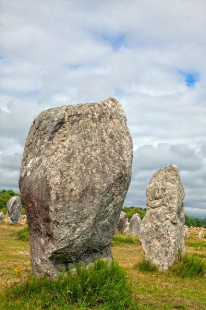 Carnac pedras hdr Foto gratuita