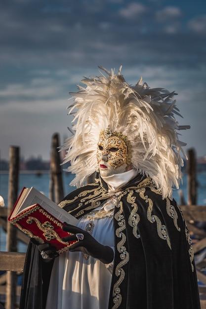 Carnaval de veneza itália Foto Premium