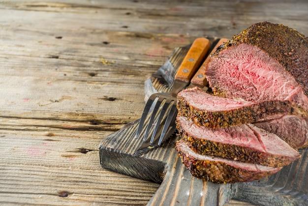 Carne assada de lombo Foto Premium