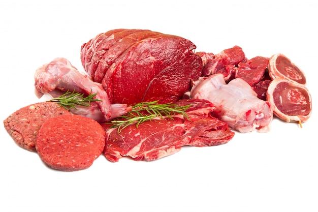 Carne crua da mistura Foto Premium