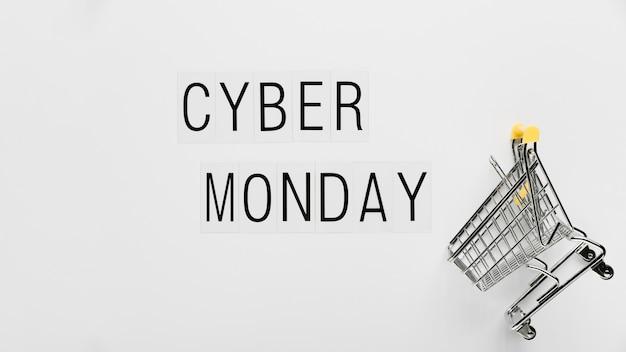 Carrinho de compras online na cyber segunda-feira Foto gratuita