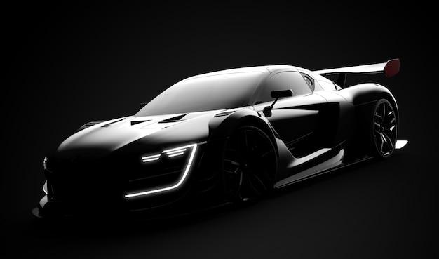 Carro esporte moderno preto Foto Premium