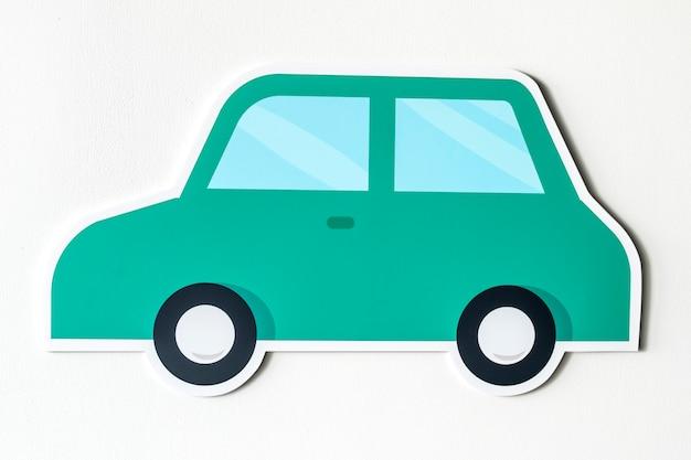 Carro, para, transporte, ícone, isolado Foto gratuita
