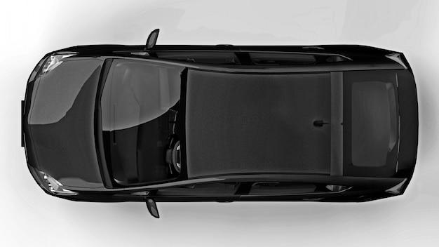 Carro preto híbrido da família moderna Foto Premium
