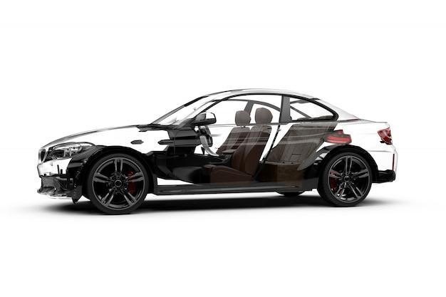 Carro transparente lateral em branco Foto Premium