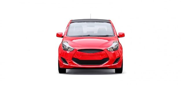Carro vermelho com superfície em branco para seu design criativo Foto Premium