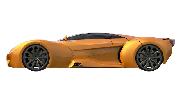 Carros de corrida laranja conceitual Foto Premium