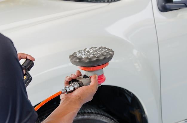 Carros de polimento de máquina Foto Premium
