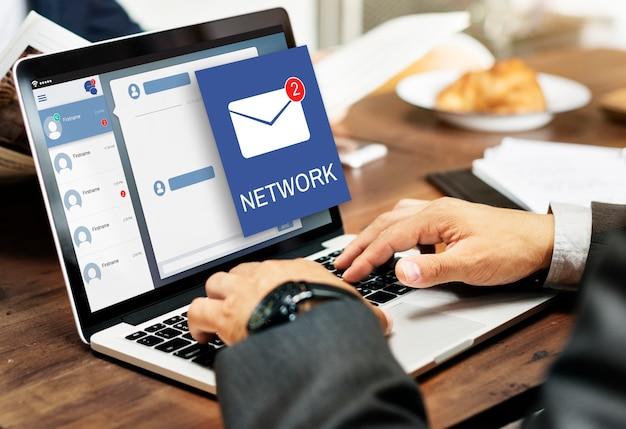Carta envelope mensagem notificação conceito Foto gratuita