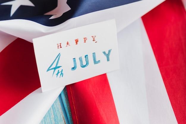 Cartão de artesanato para o dia da independência Foto gratuita