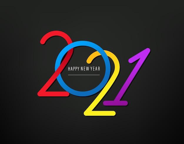Cartão de feliz ano novo Foto Premium