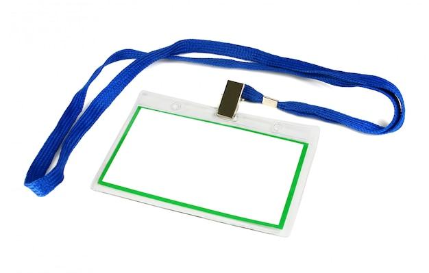 Cartão de identificação maquete vazia Foto Premium