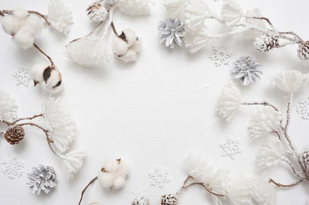 Cartão de natal borda de quadro de natal com copyspace Foto Premium