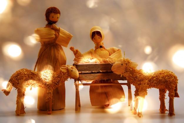 Cartão de natal jesus bebê Foto Premium