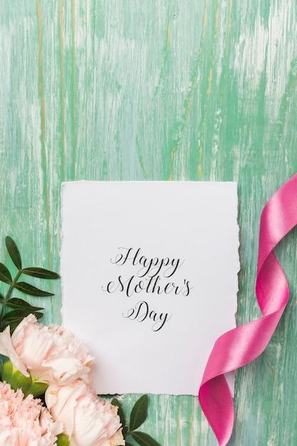 Cartão do dia das mães fechar Foto gratuita