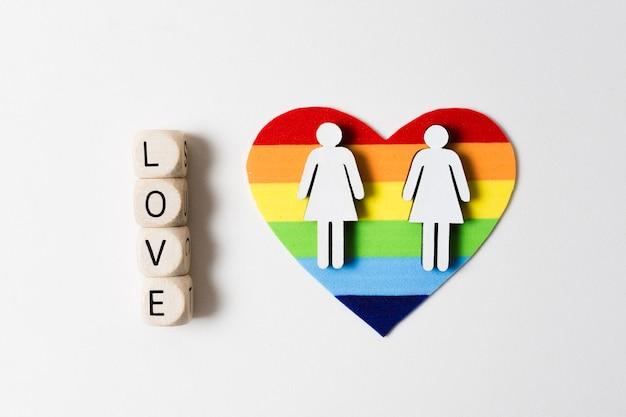 Cartão do orgulho gay em forma de coração Foto gratuita