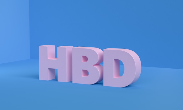 Cartão minimalista do feliz aniversario de hbd Foto Premium