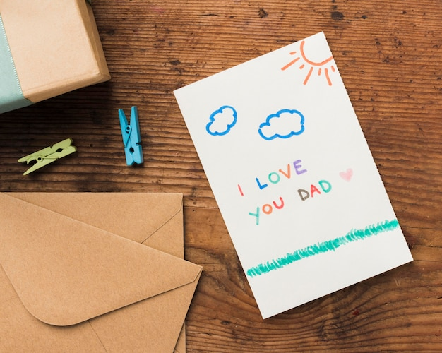 Cartão para pai Foto gratuita