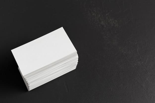 Cartões em branco Foto Premium