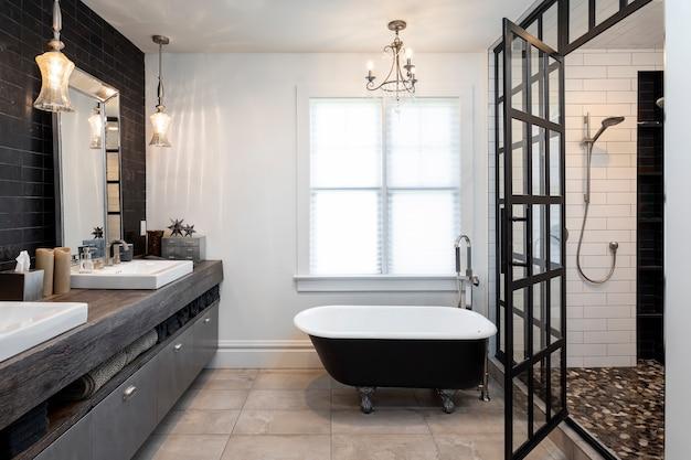 Casa de banho em casa Foto Premium