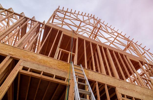 Casa nova em construção exterior Foto Premium