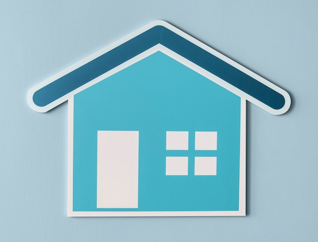 Casa segura cortada ícone Foto gratuita