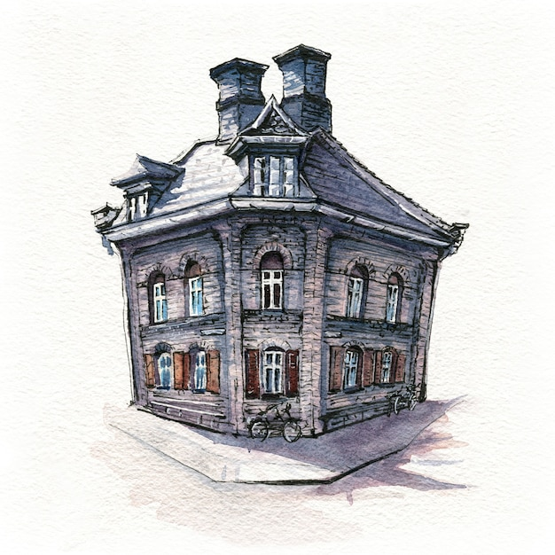 Casa típica de danich, copenhague Foto Premium