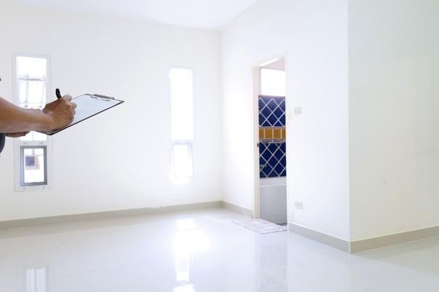 Casa vazia e quarto em branco Foto Premium