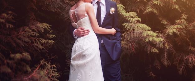 Casal no dia do casamento Foto Premium