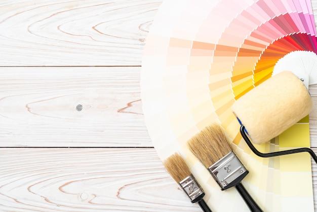 Catálogo de cores de amostra pantone ou livro de amostras de cores Foto Premium