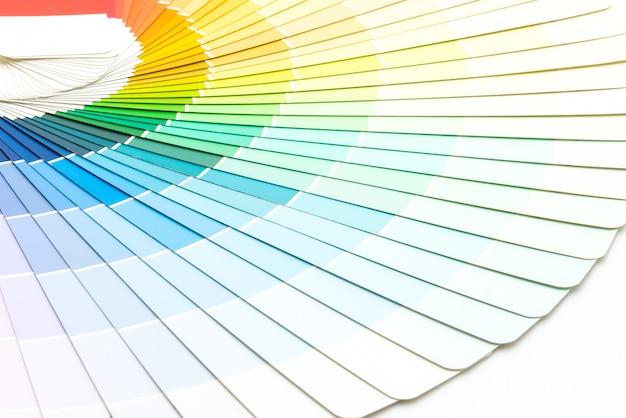Catálogo de cores de amostra pantone Foto Premium