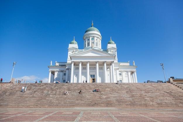 Catedral luterana em helsinque, finlândia Foto Premium